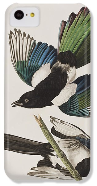 Magpies iPhone 5c Case - American Magpie by John James Audubon