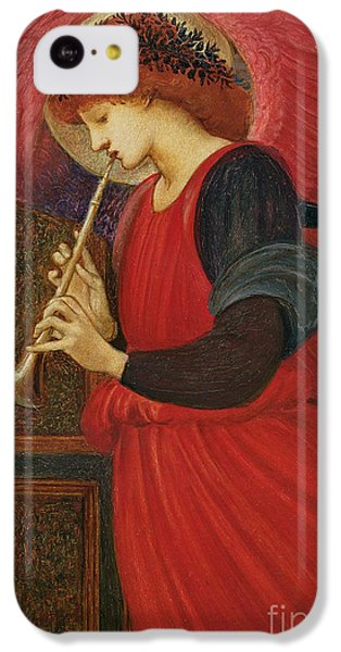 Trumpet iPhone 5c Case - An Angel Playing A Flageolet by Sir Edward Burne-Jones