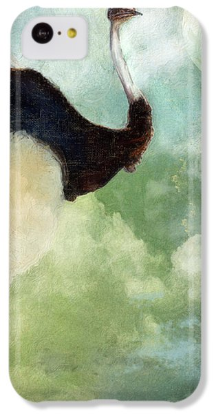 Ostrich iPhone 5c Case - Anastasia's Ostrich by Mindy Sommers