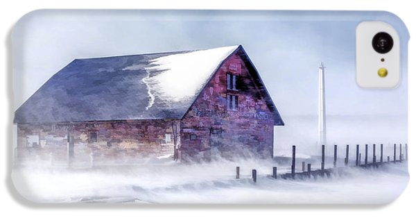 IPhone 5c Case featuring the painting Anderson Dock Winter Storm by Christopher Arndt