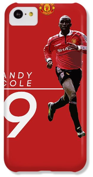 Andy Cole IPhone 5c Case by Semih Yurdabak