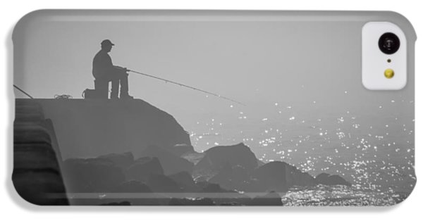Angling In A Fog  IPhone 5c Case by Bill Pevlor