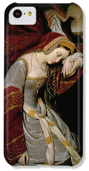 Anne Boleyn In The Tower IPhone 5c Case by Edouard Cibot