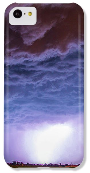 Nebraskasc iPhone 5c Case - Another Impressive Nebraska Night Thunderstorm 007 by NebraskaSC