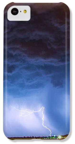 Nebraskasc iPhone 5c Case - Another Impressive Nebraska Night Thunderstorm 008/ by NebraskaSC