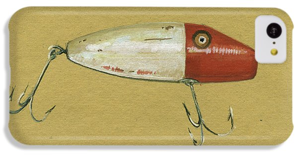 Trout iPhone 5c Case - Antique Lure Bait by Juan Bosco