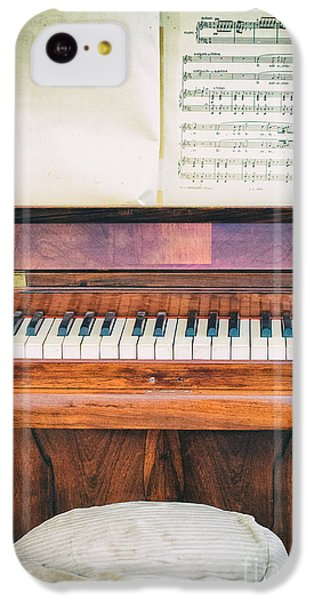 IPhone 5c Case featuring the photograph Antique Piano And Music Sheet by Silvia Ganora