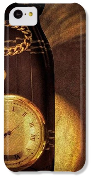Antique Pocket Watch In A Bottle IPhone 5c Case by Susan Candelario