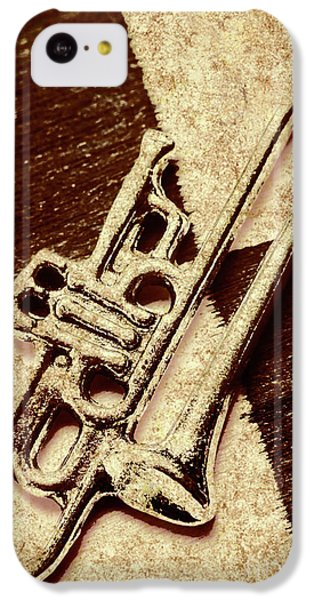 Trumpet iPhone 5c Case - Antique Trumpet Club by Jorgo Photography - Wall Art Gallery