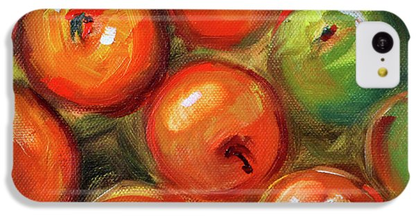 IPhone 5c Case featuring the painting Apple Barrel Still Life by Nancy Merkle