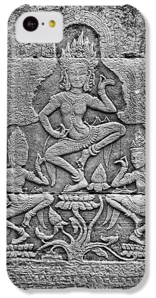 IPhone 5c Case featuring the photograph Apsaras 3, Angkor, 2014 by Hitendra SINKAR