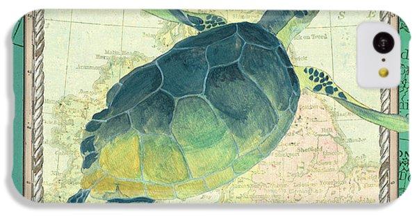 Turtle iPhone 5c Case - Aqua Maritime Sea Turtle by Debbie DeWitt