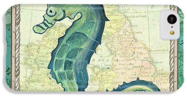 Seahorse iPhone 5c Case - Aqua Maritime Seahorse by Debbie DeWitt