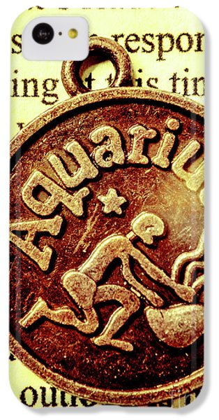 IPhone 5c Case featuring the photograph Aquarius Zodiac Sign by Jorgo Photography - Wall Art Gallery