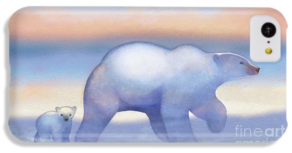 Arctic Bears, Journeys Bright IPhone 5c Case by Tracy Herrmann
