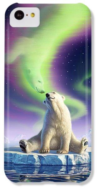Polar Bear iPhone 5c Case - Arctic Kiss by Jerry LoFaro