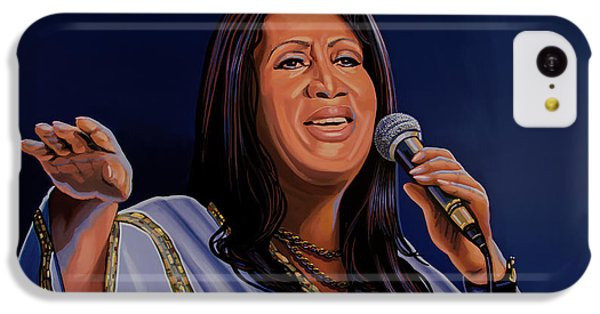 Harlem iPhone 5c Case - Aretha Franklin Painting by Paul Meijering