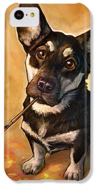Dog iPhone 5c Case - Arfist by Sean ODaniels