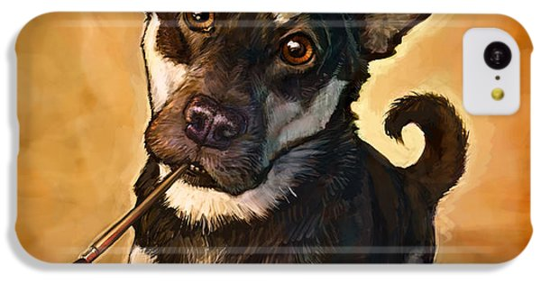 Dog iPhone 5c Case - Arfist by Sean ODaniels