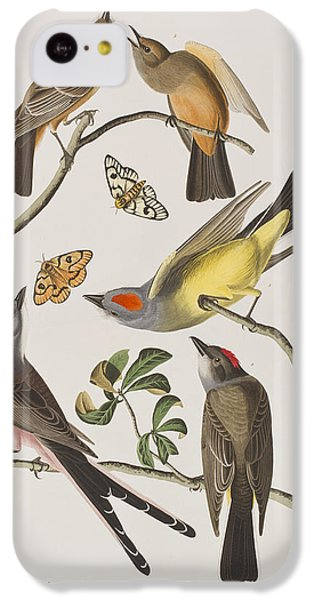 Flycatcher iPhone 5c Case - Arkansaw Flycatcher Swallow-tailed Flycatcher Says Flycatcher by John James Audubon