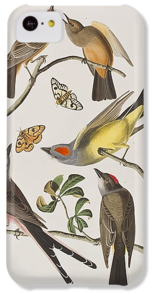 Arkansaw Flycatcher Swallow-tailed Flycatcher Says Flycatcher IPhone 5c Case by John James Audubon