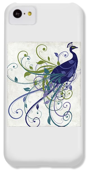 Peacock iPhone 5c Case - Art Nouveau Peacock I by Mindy Sommers