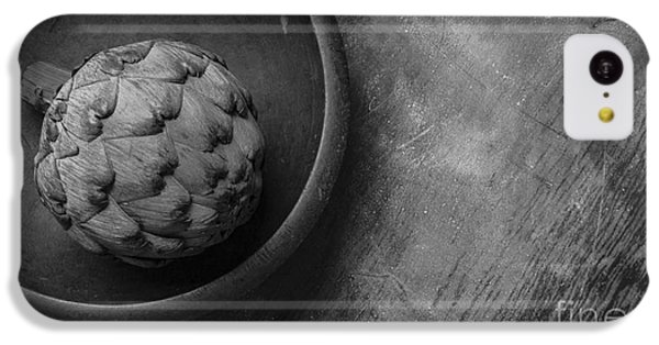 Artichoke Black And White Still Life Three IPhone 5c Case by Edward Fielding