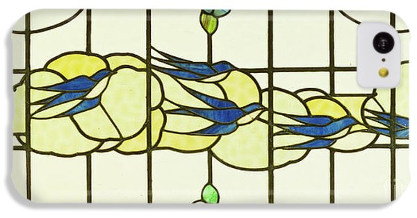 Arts And Crafts Panel Of A Group Of Swallows Before Clouds In A Border Of Flowers IPhone 5c Case