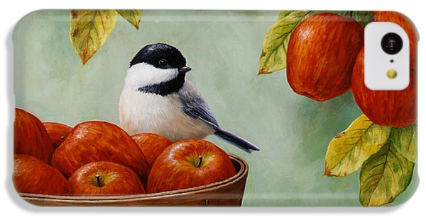 Apple Chickadee Greeting Card 1 IPhone 5c Case by Crista Forest