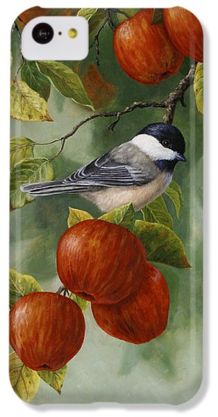 Apple Chickadee Greeting Card 2 IPhone 5c Case by Crista Forest