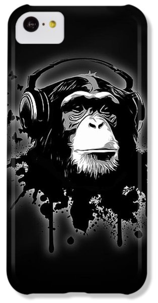 Monkey Business - Black IPhone 5c Case by Nicklas Gustafsson