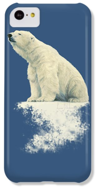 Bear iPhone 5c Case - Something In The Air by Lucie Bilodeau