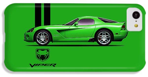 Dodge Viper Snake Green IPhone 5c Case by Mark Rogan
