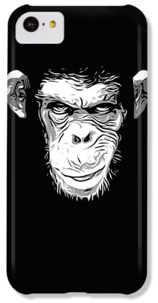 Chimpanzee iPhone 5c Case - Evil Monkey by Nicklas Gustafsson