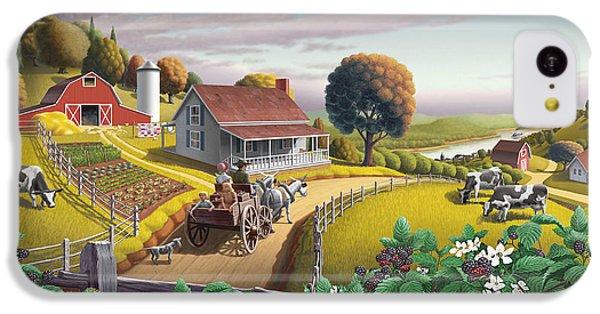 Appalachian Blackberry Patch Rustic Country Farm Folk Art Landscape - Rural Americana - Peaceful IPhone 5c Case