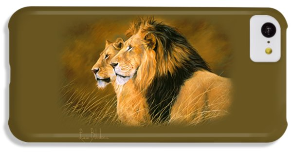 Lion iPhone 5c Case - Side By Side by Lucie Bilodeau