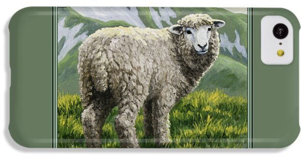 Sheep iPhone 5c Case - Highland Ewe by Crista Forest