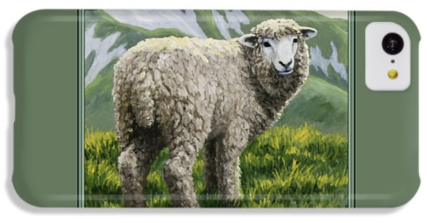 Highland Ewe IPhone 5c Case by Crista Forest