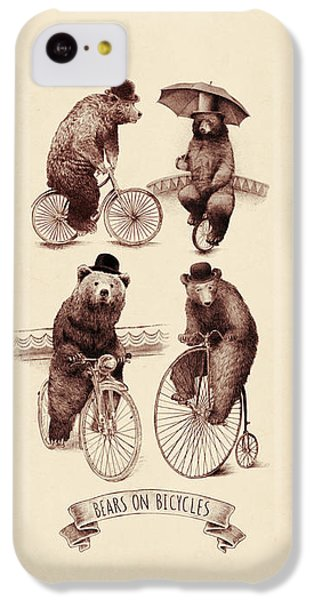 Bears On Bicycles IPhone 5c Case