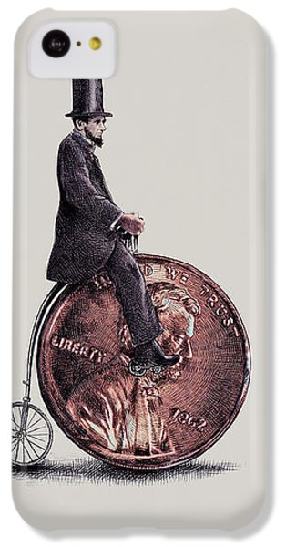 Bicycle iPhone 5c Case - Penny Farthing by Eric Fan