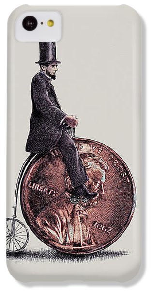 Transportation iPhone 5c Case - Penny Farthing by Eric Fan