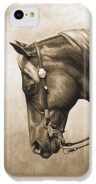 Western Horse Painting In Sepia IPhone 5c Case