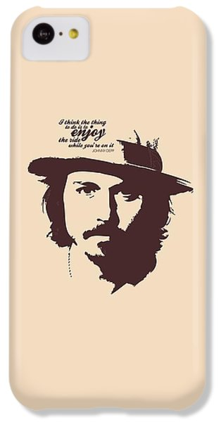 Johnny Depp Minimalist Poster IPhone 5c Case by Lab No 4 - The Quotography Department