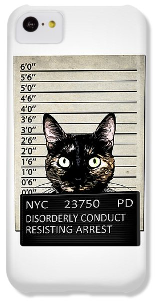 Kitty Mugshot IPhone 5c Case by Nicklas Gustafsson
