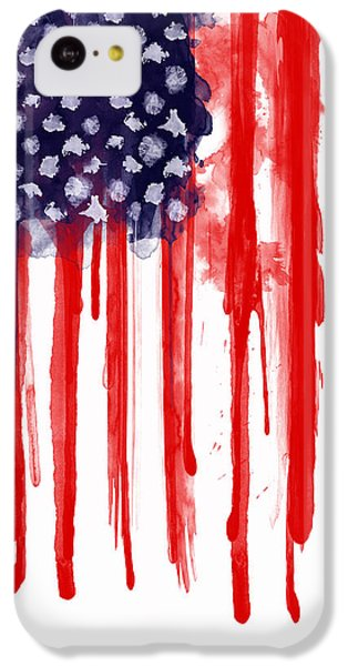 Landmarks iPhone 5c Case - American Spatter Flag by Nicklas Gustafsson