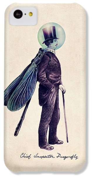 Inspector Dragonfly IPhone 5c Case by Eric Fan