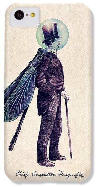 Animals iPhone 5c Case - Inspector Dragonfly by Eric Fan