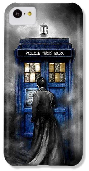 Mysterious Time Traveller With Black Jacket IPhone 5c Case