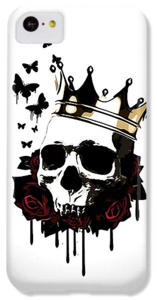 Rose iPhone 5c Case - El Rey De La Muerte by Nicklas Gustafsson
