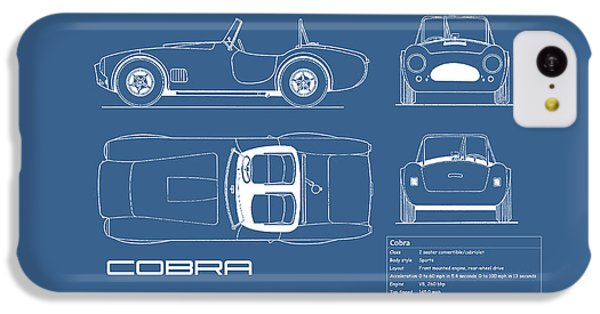 Ac Cobra Blueprint IPhone 5c Case by Mark Rogan
